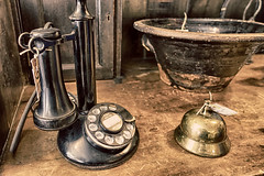 Call Me (gabi-h) Tags: old stilllife table bell antique telephone bowl gabih