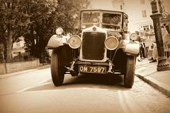 Lanchester by Avon Gorge Hotel (John191cr) Tags: sepia bristol vintagecar streetphotography clifton motorcar avongorge