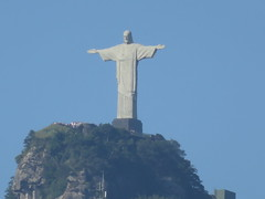 View of Christ the Redeemer (from our hotel rooftop, zoom lens) (vbolinius) Tags: travel brazil christtheredeemer riodejaniero 2016