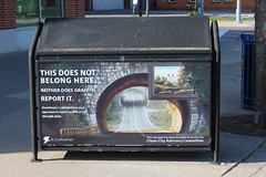 This does not belong here... (jmaxtours) Tags: ontario stcatharines garbagecan antigraffiti stcatharinesontario thisdoesnotbelonghere