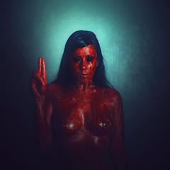 Ora Pro Nobis (Dondelalunanosguia) Tags: portrait dark nude blood fineart conceptual satanic