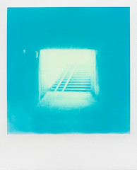 Cykeltunnel (SX-70) (mmartinsson) Tags: blue film stairs underpass polaroid sx70 se sweden tunnel scan 600 sverige 2016 ndfilter instantfilm skneln analoguephotography polaroidsx70landcamera epsonperfectionv700 impossibleproject cyanograph