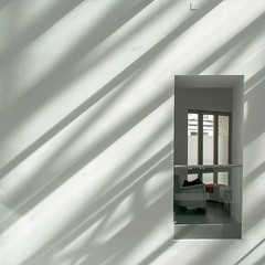 Interieur exterieur 10 (godelieve b) Tags: shadow white window lines architecture square grey inside fentre lignes intrieur carr ombres