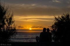 gemeinsam.... (mar_lies1107) Tags: sunset sonnenuntergang spanien lagomera vallegranrey