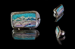 (Vlad Katenkar) Tags: art glass silver mosaic decoration ring micro nickel marble florentine smalt