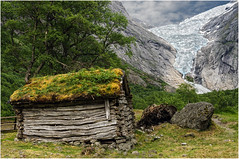 Norvge. Le glacier de Briksdal. (leonhucorne) Tags: glacier norvge briksdal rockpaper