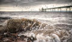 Splash (Chris Sweet Photography) Tags: seascape beach water nikon rocks dof pov f14 sigma depthoffield drama
