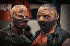 zombie chat (fat-freddies-cat 3 million views) Tags: street zombie birminghamengland zombiewalk