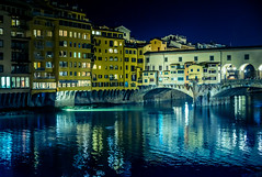 Ponto Vecchio, Florence (Arutemu) Tags: europe eu italy ilce italia ilcea7r italien italian tuscany toscana florence firenze pontovecchio city cityscape ciudad citylights sony sonya7r a7r night nighttime nightscape nikon nightview nightshot medieval renaissance architecture river