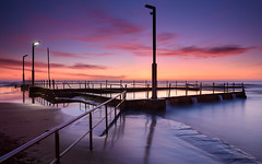 Mona (Rodney Campbell) Tags: ocean longexposure water pool clouds sunrise au australia newsouthwales cpl monavale rgnd09