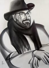 () Tags: portrait beard graphic graphite hat scarf