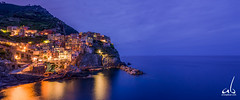 Manarola, Cinque Terre, Italy (anoopbrar) Tags: italy cinqueterre cinque terre seaside town twilight bluehour city nightlife longexposure photography amalficoast manarola explore beautiful artistic art hillside hills citylights landscape blue hour ocean building skyline downtown sunset sunrise landscapephotography cities nature outdoor night long exposure reflections foreground dusk architecture buildings urban italia seascape travel travelphotography