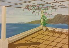 Terrasse am Meer (manu1362) Tags: meer wasser terrasse acryl acrylgemälde