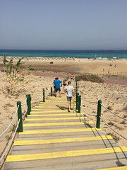 Going to the beach (Ely_543) Tags: path stairs outdoor landscape beach shore seaside fuerteventura goingdown walking