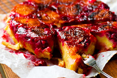 upside down  apricot and cherry  cake (Zoryanchik) Tags: cherry pie white fresh slice food sweet fruit tasty dessert plate delicious sugar cake berry closeup pastry bakery gourmet cuisine homemade bake vintage