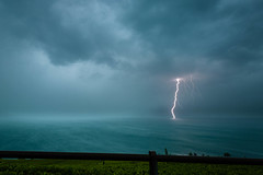 Lightning on Lake Geneva (kichetof) Tags: clairs lightning genevalake laclman orages