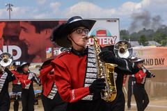 Richmond at 2016 State Fair Band Day (WayNet.org) Tags: bandday devilettes indiana indianastatefair indianapolis rhs reddevils richmond statefair band colorguard grandstand marchingband track