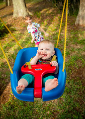 Spring Swing (crashmattb) Tags: baby kid florida odessa swing april lakealice lightroom 2015 18135mm canon70d isabelrose canonefs18135mmf3556isstm