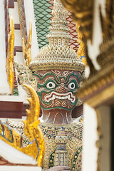 Giant Guardian (violinconcertono3) Tags: sculpture statue architecture thailand gold dangerous asia bangkok religion guard large royal evil buddhism palace grandpalace demon destination colourful ornate wat protection watphrakaeo traditionalculture nobility famousplace tropicalclimate