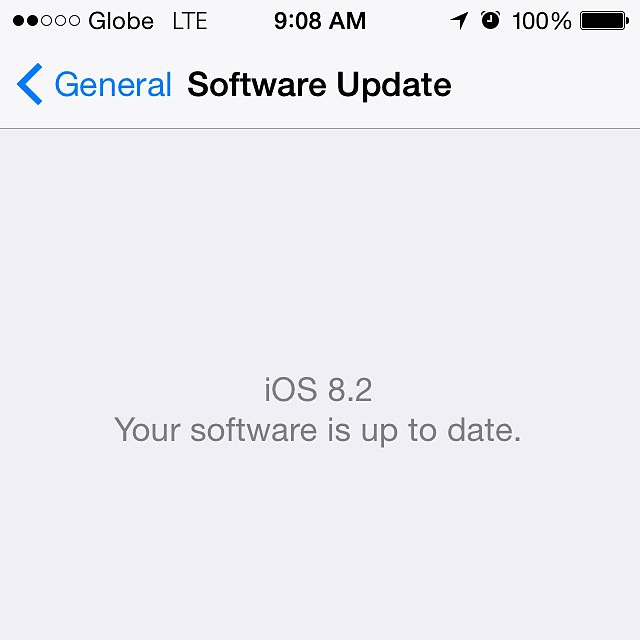 iOS 8.2. Nothing major major. #iOS #iOS82 #iOS8point2 #applewatch