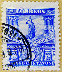great stamp Mexico 5c (Cuauhtémoc 1495-1525; last Aztec Emperor and ruler of Tenochtitlan) selo México sellos Μεξικό γραμματόσημα Meksika pullar Messico francobollo 墨西哥 邮票 Mexique timbre Mexiko เม็กซิโก แสตมป์ Mexikó bélyegek Briefmarke Ме́ксика почто́вая