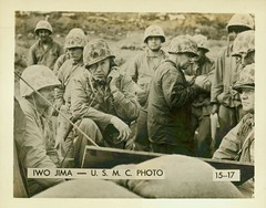 Command Post of Major General Keller Rockey, 1945 (Marine Corps Archives & Special Collections) Tags: world marine war ii corps marines iwo jima