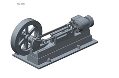 Steam Engine Animation (aillery) Tags: computer model engine steam piston cylinder creo cad drafting parametric assisted