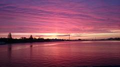 Red Dawn (meijkie) Tags: amsterdam ferry noordzee kanaal mokum zaandam gvb hembrug hempont