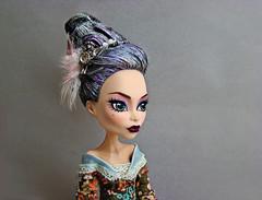 TMI,Week 2-Wicked Hair (tehhishek) Tags: portrait monster hair cherry grey spring high dolls makeup powder baroque hairstyle mattel rococo bloodgood headmistress