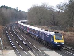 Pirbright Junction (Bimbling Along) Tags: train railway southwesttrains firstgreatwestern intercity swt 125 hst greatwestern fgw class159 pirbrightjunction