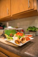 Flautas. (R Image Studio) Tags: food kitchen modern tomato subway tile fun cookbook avocado healthy mix nikon meals mexican lettuce american vegetarian organic 1950 thug stainless 2470f28 meatless d800e thugkitchen