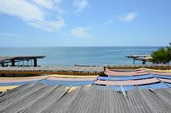 Villa Ortega's Restaurant in Puerto Nuevo (Rob.Bertholf) Tags: ocean tourism beach mexico awning puerto scenic tourist spanish oceanside creativecommons bajacalifornia baja nuevo puertonuevo bajamexico