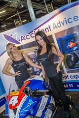 Manchester Bike Show 2015 - Accident Advice Solicitors promo models (Sacha Alleyne) Tags: babe motorbike blonde motorcycle brunette bikeshow 2015 promomodel promogirl eventcity a6000 manchesterbikeshow sarahwiddowson sonya6000 accidentadvicesolicitors