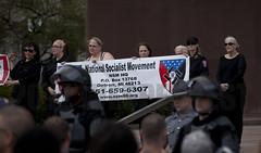 IMG_7042 (Wespennest) Tags: ohio demo spring cops nazi nazis protest police demonstration toledo armor april riotpolice riotcops neonazis nsm bodyarmor jeffschoep nationalsocialistmovement kenkrause