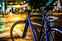 Mizonokuchi nights (tamas.doczi) Tags: nightphotography people urban rain japan 50mm nikon streetphotography 50mm14 midnight fixedgear kawasaki afterrain salaryman bikeporn singlegear japanstreet leaderbikes cyclinginjapan nikond610 leadercuretrackbike leadercure