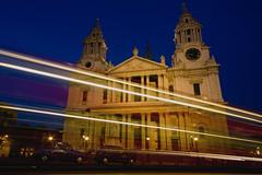 Saint Paul's London Night (c.clive) Tags: city light bus london saint night cathedral trails pauls