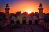 Maghrib (Fortunes2011.) Tags: fortunes2011nikon lahore mosque wazirkhanmasjid minar minaret sunset sunlight backlit hdr heritage placeofworship sunnysunnyyellow