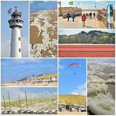 Meivakantie Egmond (Harmen de Vries) Tags: strand zee paragliding vuurtoren egmond bollenvelden zeeschuim