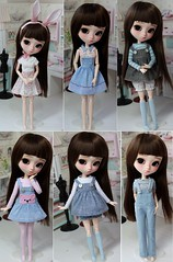 little cute clothes (Aya_27) Tags: bear cute bunny pastel clothes overalls pullip petitecreayations