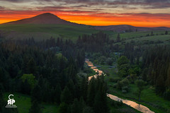 Palouse River Sunset (Chris Ross Photography) Tags: sunset orange green clouds river butte hill d800 palouse steptoe