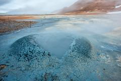 Life and death just dancing in the mud (OR_U) Tags: longexposure blue landscape iceland mud le heat oru myvatn hss 2016 fumaroles volcanism hverir hverarnd geothermalfield slicerssunday