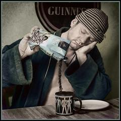 The morning after (kristian.pichol) Tags: morning blue green cup beer coffee breakfast drunk nacht kaffee guinness mde tired bier grn blau morgen headache becher frhstck bademantel kopfschmerzen durchzechte