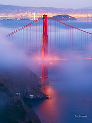 (davidyuweb) Tags: bridge tower fog golden evening gate san francisco glow low north sfist  luckysnapshot