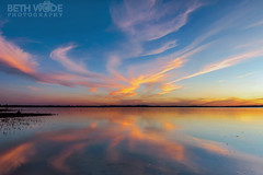 God's Mirror (Beth Wode Photography) Tags: sunset clouds reflections dusk beth redlands moretonbay wellingtonpoint wode bethwode