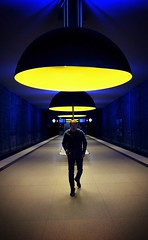 """Beam me up!"" from Westfriedhof (tom_p) Tags: architecture munich mnchen licht colours fuji metro bahnhof monaco ubahn architektur fujifilm farben x70 westfriedhof fujifilmx70"