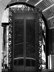Hotel Doorway Reflections - Tremezzo Lake Como Italy (Gilli8888) Tags: blackandwhite italy lake reflections hotel arch entrance doorway archway lakecomo lombardia grandhotel lombardy tremezzo