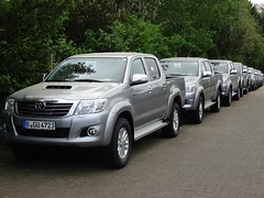 Toyota Hilux Convoy (harry_nl) Tags: germany deutschland pickup toyota wesel hilux 2016 hcar