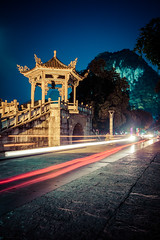 Yangshuo Street at Night (ExceptEuropa) Tags: china street longexposure travel sky building history car architecture night canon asian photography asia photographer guilin yangshuo chinese culture streetphotography historic  tradition   canon60d