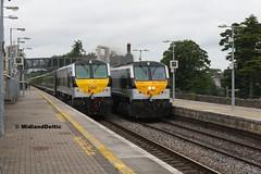 233, 231, Portlaoise, 25-06-2016 (MidlandDeltic) Tags: ireland trains railways irishrail generalmotors 231 233 portlaoise emd iarnrdireann 201class