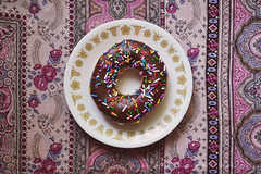 Doughnut with Sprinkles (flyingclubhouse) Tags: sprinkles doughnut chocolatefrosting